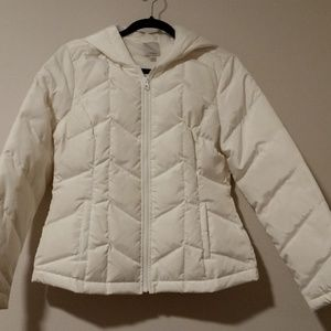 Never worn white Halogen puffer jacket